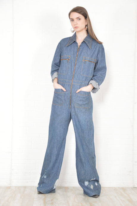 757ffda02a32 daytona denim jumpsuit - circa 1970s - THRIFTWARES