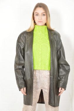 3a88edba02b eden green alligator leather jacket – circa 1980s
